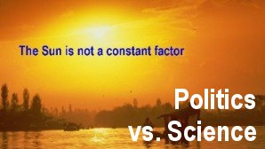 Link scene to video 'Man-made Global Warming' Series: The Sun is NOT a Constat Factor.