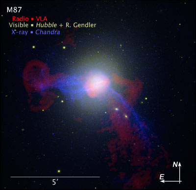 M87: The Giant Galaxy Around the 6.5-Billion-Solar-Mass Supermassive Black Hole M87_composite